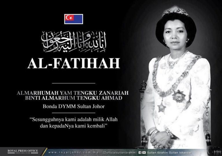 Bonda Sultan Johor Mangkat