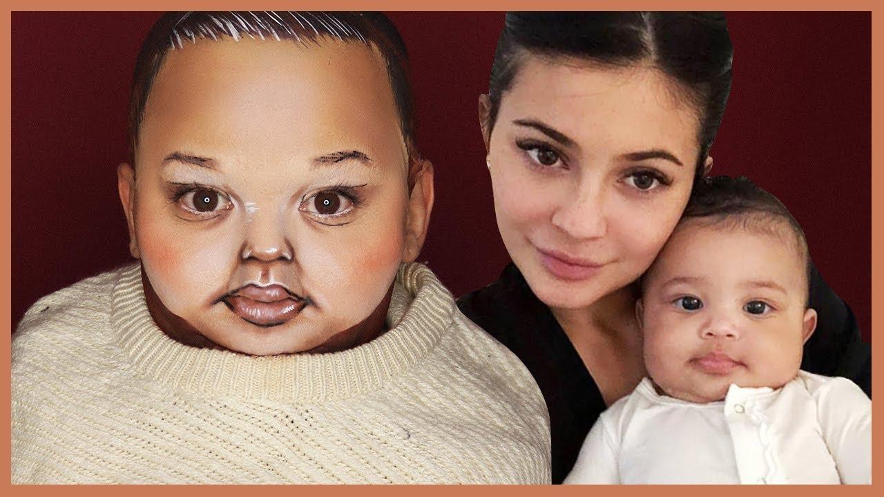 tranformasi wajah anak Kylie Jenner