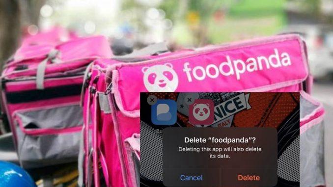 Uninstalled Foodpanda