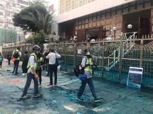 Masjid Hong Kong Disimbah Cat Biru 1