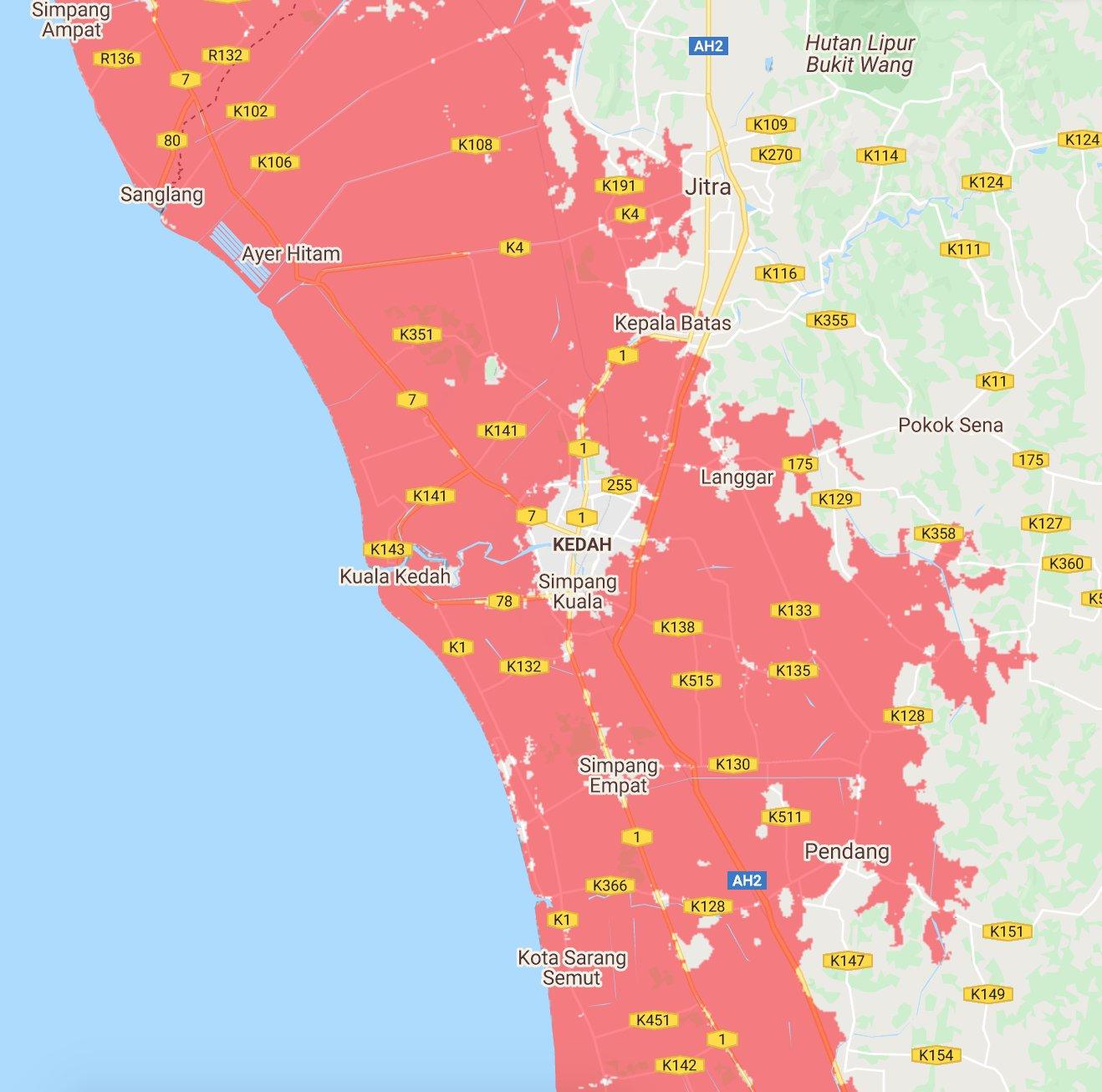 10 Bandar Utama Malaysia Tenggelam Menjelang 2050