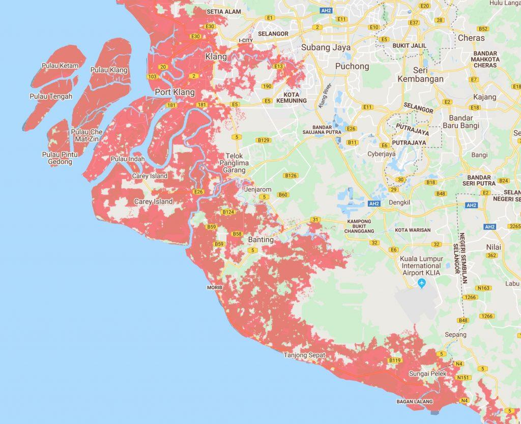 13 Bandar Utama Malaysia Tenggelam Menjelang 2050