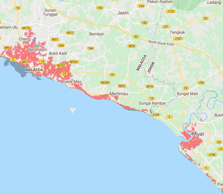 5 Bandar Utama Malaysia Tenggelam Menjelang 2050