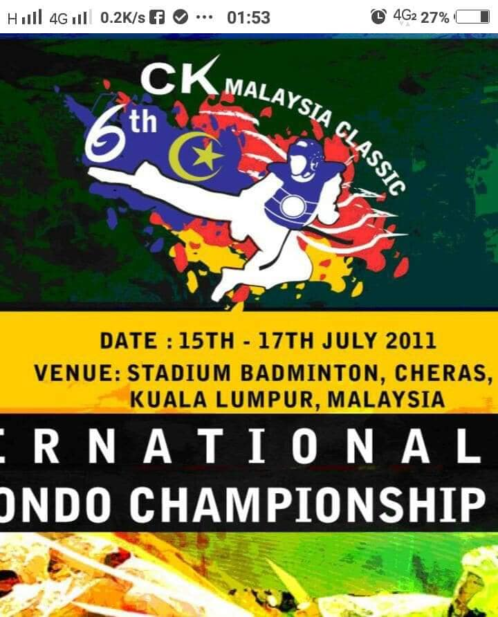 Persatuan teakwondo Guna Simbol Lima Bintang 2