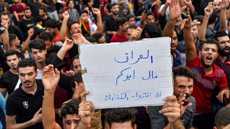 Protes Bawa Singa Di Baghdad 3