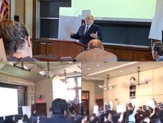 Protes mahasiswa Harvard duta Israel 4