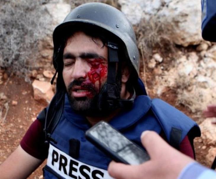 Solidariti Buat Wartawan Buta Dibedil Israel 1