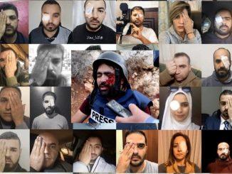Solidariti Buat Wartawan Buta Dibedil Israel 2