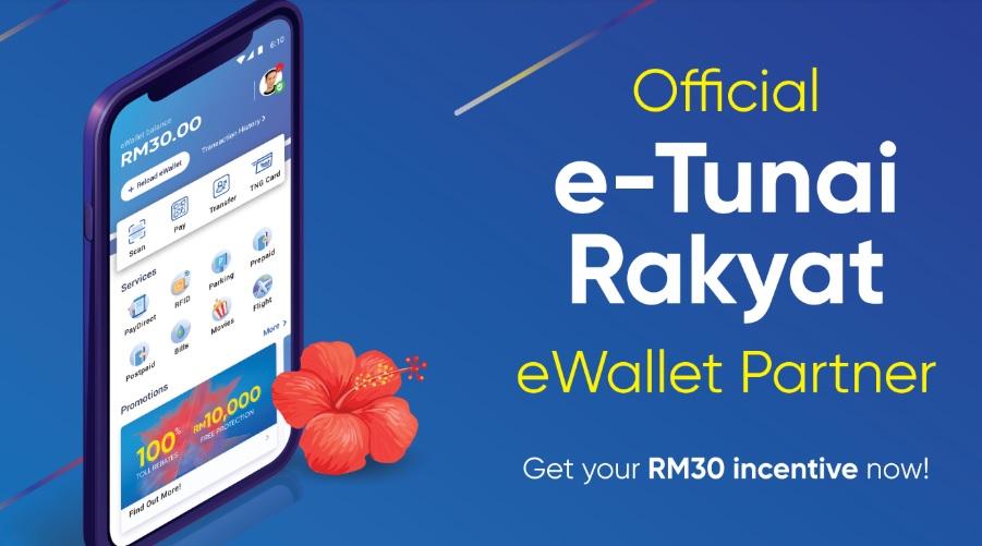 TnG eWallet RM30 Cara Tebus