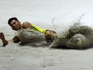 Andre Anura Pecah Rekod Lompat Jauh