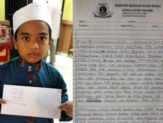 Dihalau Dari Saf hadapan Kanak Kanak Ini Hantar Surat Kepada Pengerusi Masjid 2