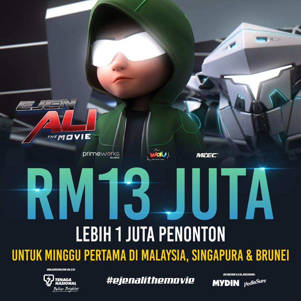 Ejen Ali Kutip RM13 Juta Seminggu
