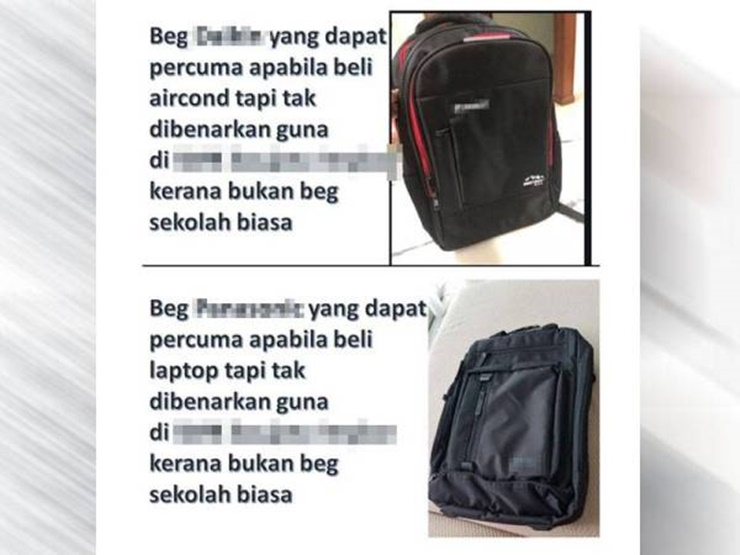 Bapa Persoal Larangan Beg Komputer Riba Ke Sekolah