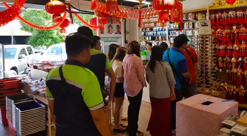 Pasar Raya Edar Penutup Muka Percuma Koronavirus