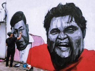 Lukis Mural Arwah Abam Tanda Penghargaan