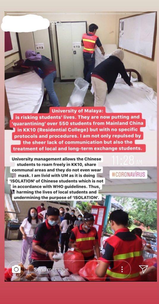 Pelajar UM Terpaksa Urus Pelajar China Koornavirus 2