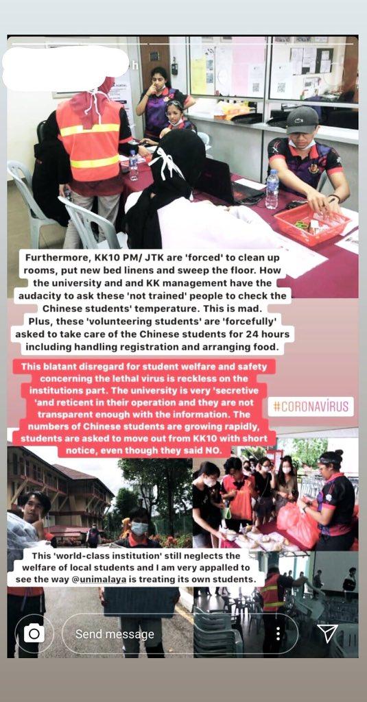 Kesatuan Mahasiswa Pelajar UM Terpaksa Urus Pelajar China Koornavirus 3