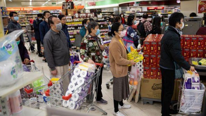 Rompak Gulungan Tisu Hong Kong Pembelian Panik