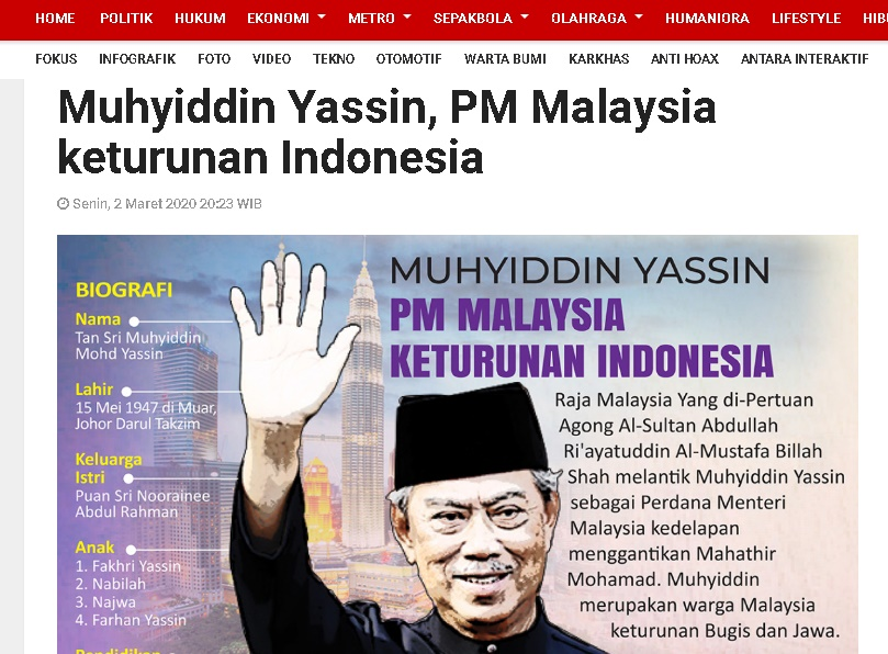 Media Indonesia Claim Muhyiddin Yassin 1
