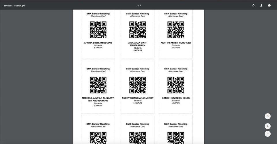 Aplikasi Kehadiran Pelajar Datang.my