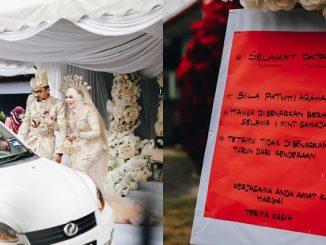 Pasangan Ini Cipta Sejarah Anjur Majlis Perkahwinan Pandu Lalu, Seminit Untuk Setiap Kenderaan 6
