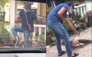 Gelagat Lelaki Ini 'Bertarung' Dengan Angsa Masa COD Barang Undang Tawa Netizen 2