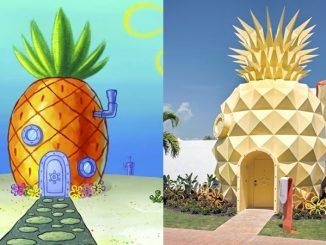 Lihat Reka Bentuk Rumah SpongeBob Dalam Dunia Sebenar 4