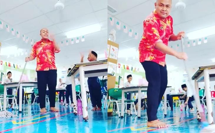 'Ceria Semacam', Warganet Puji Kesabaran Guru Ini Urus Anak Murid Terkencing Dalam Kelas 2