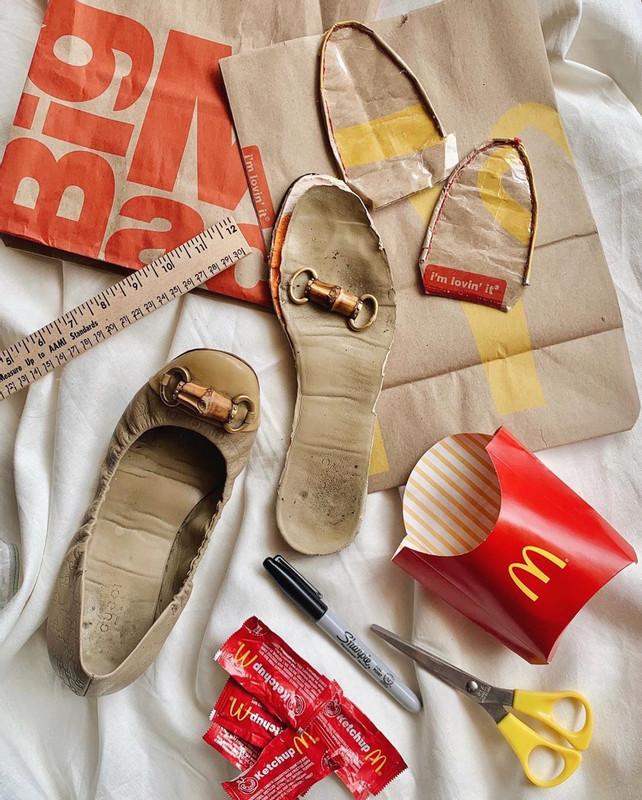 Dapat Idea Masa Makan Nuget, Pelajar Ini Kreatif Hasilkan Item Fesyen Daripada Plastik Bungkus Makanan 1