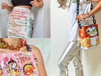 Dapat Idea Masa Makan Nuget, Pelajar Ini Kreatif Hasilkan Item Fesyen Daripada Plastik Bungkus Makanan 5