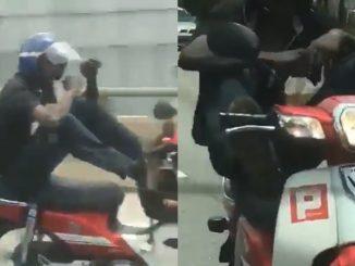 Lelaki Tunggang Motor Guna Kaki Sambil Minum Teh Ais Positif Ganja 3