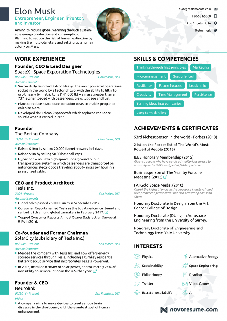 Resume Elon Musk Jadi Panduan Pencari Kerja Seluruh Dunia