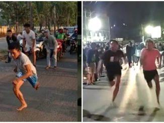 Lumba Lari Di Jalan Raya