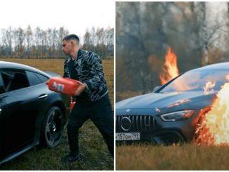 Vlogger bakar kereta Mercedes Sering Rosak