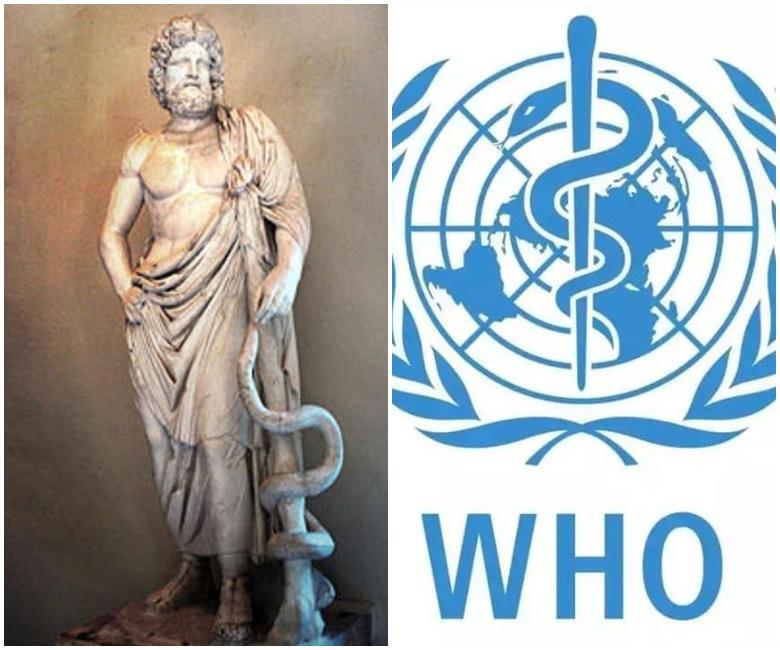 Logo WHO Guna Simbol Ular Dan Tongkat