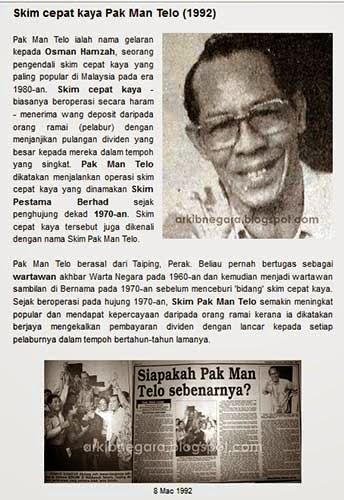 Pak Man Telo Otai Paling Popular Dalam Operasi Skim Cepat Kaya Di Malaysia 4
