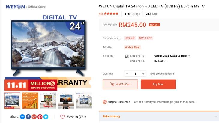 TV Bajet Bawah RM300 3