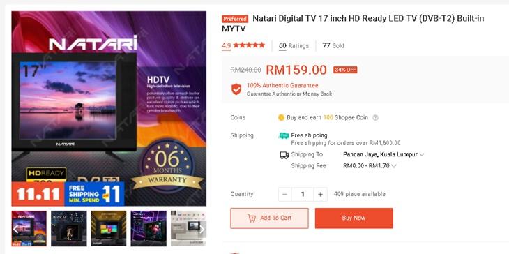 TV Bajet Bawah RM300 4