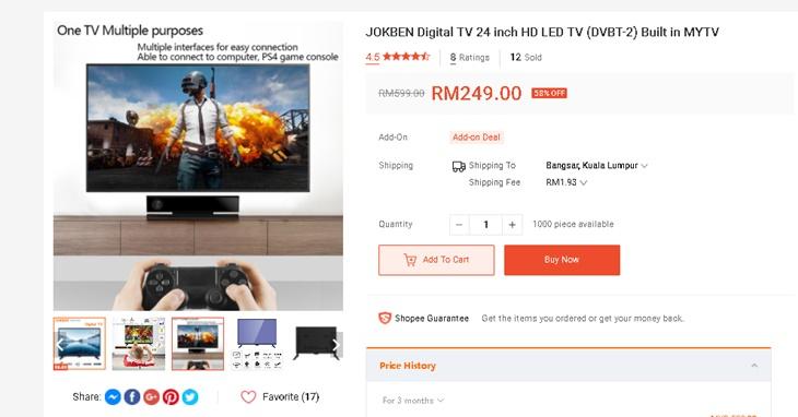 TV Bajet Bawah RM300