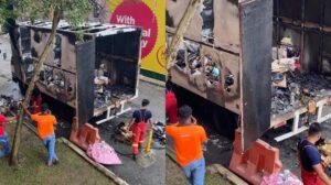 Tular Gambar Lori Penghantar Barang Terbakar Di Cheras 4