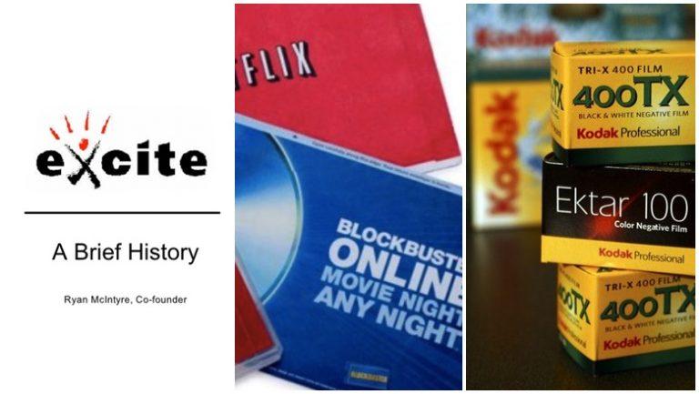Syarikat Blockbuster, Excite, Kodak Tersungkur