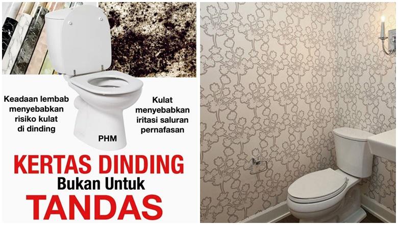 Wallpaper Di Tandas Bahaya Kesihatan