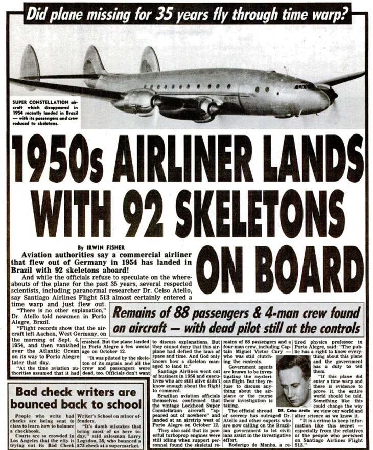 Misteri Pesawat Yang Mendarat Bersama Tengkorak Selepas 35 Tahun Menghilang 2