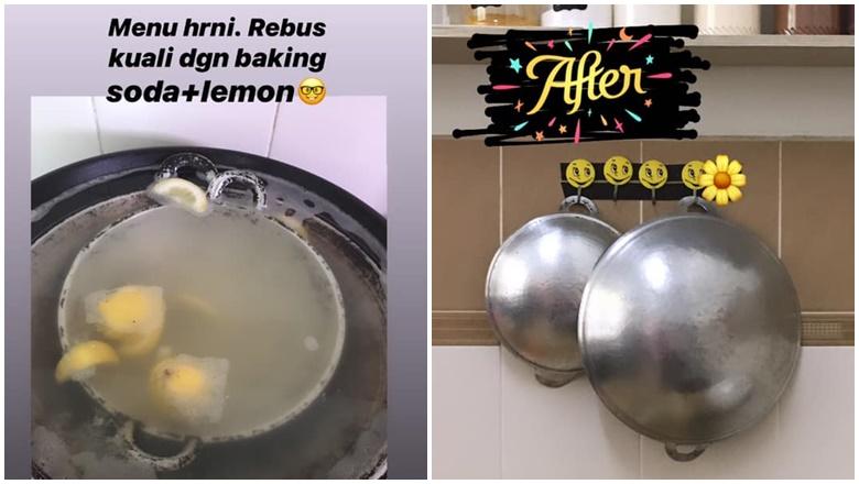Cara Popular Cuci Kuali Berkerak