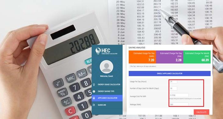 Cara Guna Home Energy Calculator