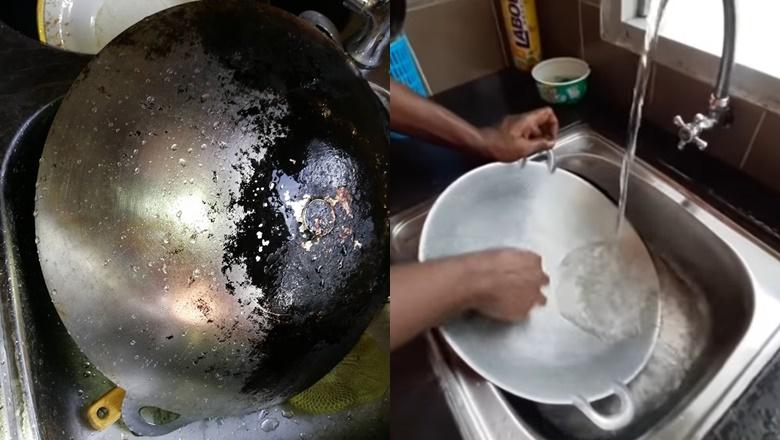Ini 3 Cara Popular Cuci Kuali Berkerak Kembali Kilat Seperti Baru Dibeli