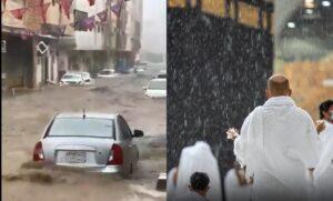 Mekah Dilanda Hujan Lebat Jemaah