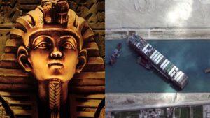 Insiden Terusan Suez Sumpahan Firaun