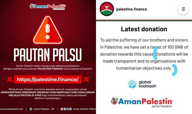 Sumbangan Palestine Finance Derma Wang Kripto