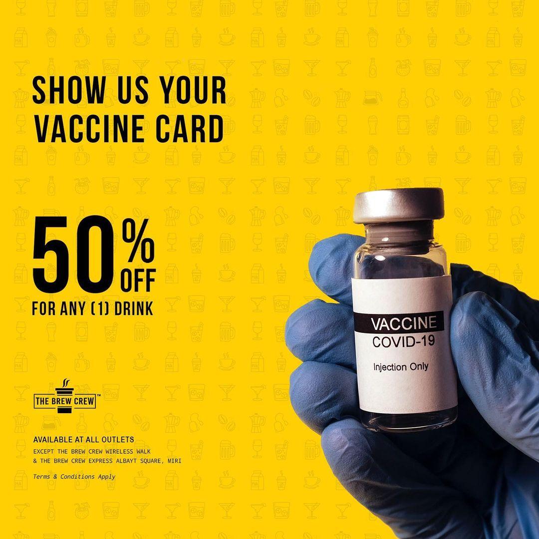 Promosi Makanan Terima Vaksin